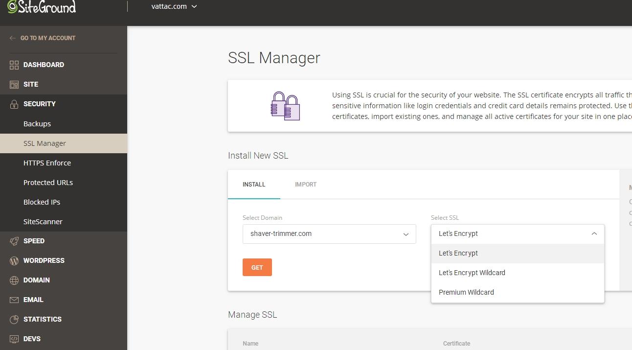 SiteGround设置免费SSL证书教程