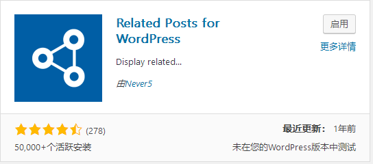 Wordpress相关文章插件推荐